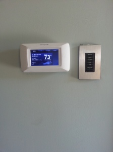 Honeywell Presige IAQ Thermostat. Ventilation, and Humidity Control.